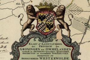Wapen Stad en Ommelanden 1781, detail van de kaart van Beckeringh