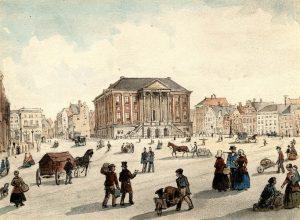 Grote Markt, tekening van C.C.A. Last
