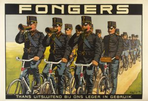 Reclameplaat Fongers door E.G. Schlette.